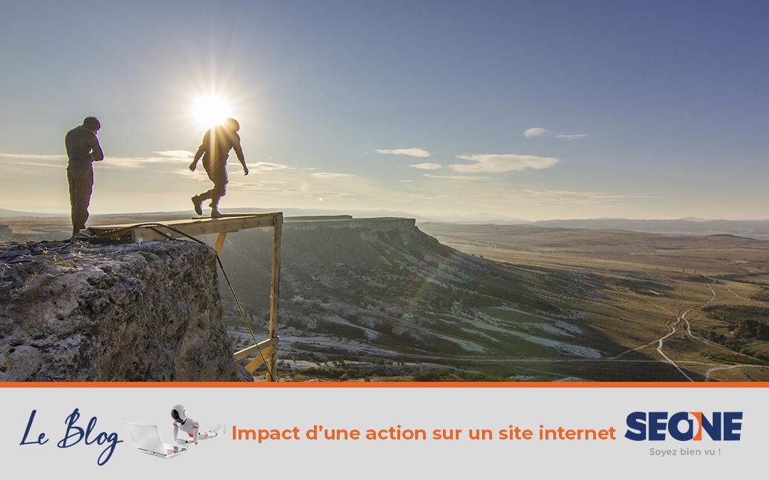 Impact d'une action sur un site internet